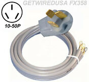 Range Stove Oven Electric Cord Male 10 50p 3 Prong Plug 220 Appliance Power Wire