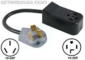 New 4 Prong 14 30r Dryer Receptacle To Old 3 Pin 10 50p Range Plug Cord Adapter