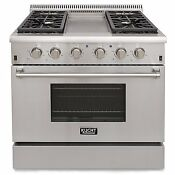 Kitchen 36 Professional Stove Stainless Steel Gas Range Cooker W 4 Burners
