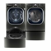 4 5 Cu Ft Front Load Washer 7 4 Cu Ft Dryer W Laundry Sidekick Washer Pedestal