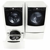 5 2 Cu Ft Front Load Washer Gas Dryer W Laundry Sidekick Washer Pedestal Set