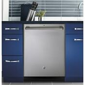 Ge Cafe Series Stainless Interior Built In Dishwasher With Hidden Controls