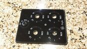 Ge Profile Downdraft Cooktop Glass Decal Knob Cover Plate Black Part Wb56x10369