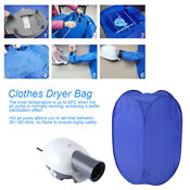 800w Electric Air Clothes Dryer Folding Fast Drying Machine Bag Portable 110v