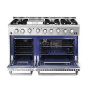 Thor Hrg4808u Kitchen 48 Gas Range 6 Burner Double Oven Stainless Steel X6s5