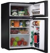 Compact Refrigerator Fridge Freezer Mini 3 2cu Ft 2 Door Reversible Dorm Office