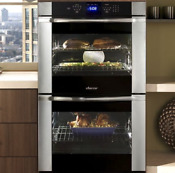 Dacor Distinctive Dtov230b 30 Double Electric Wall Oven In Brushed Stainless