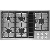 New Jenn Air Gas Downdraft 36 Jx3 Cooktop Black Stainless Steel Model Jgd3536
