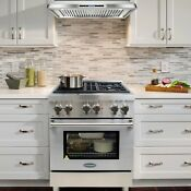 Commercial Style 30 In 3 9 Cu Ft Dual Fuel Range With 4 Italian Burners Cast