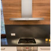 Brillia 30 Inch 750 Cfm Wall Mount Range Hood With Led Lights And Baffle