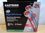 Eastman 2 Pack 6 Ft High Efficiency Triple Reinforced Washing Machine Hoses