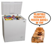 Freezer Chest Upright Compact Food Deep Storage White Arctic King 3 5 Cu Ft