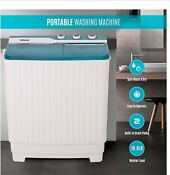 Della Portable Washer And Dryer White Blue Washing Machine And Spinner