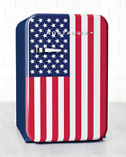 Nostalgia Retro Series 3 8 Cubic Foot Usa American Flag Refrigerator Freezer New