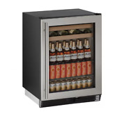 U Line U1024bevs00b 1000 Series 24 Inch Built In Beverage Center Stainless Steel