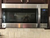 Black Stainless Steel Kenmore Elite Over The Range Microwave Oven