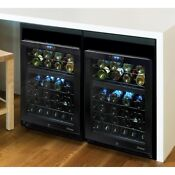 Element By Vinotemp 46 Bottle Dual Zone Wine Cooler With Seamless Glass Door