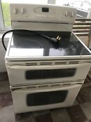 Electric Stove Oven Combo With 2 Separate Ovens Used But Works Needs Cleaned