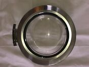Whirlpool Front Load Washer Whole Door Glass Assembly Gray W Door Hinge Strike
