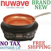 New Nuwave Precision 2pc Piece Induction Cooktop Set W Frypan Non Stick 9in Inch