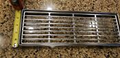 Jenn Air Chrome Down Draft Cover Vent Grill Electric Range Stove Oven 14 X 5 75