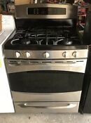 Ge Profile 30 Convection Gas Range Warm Draw 5 Burners Stainless Pgb916sem1ss