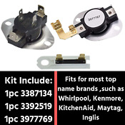 Thermostat Dryer Thermal Fuse Replacement Whirlpool Kenmore Kitchenaid Maytag