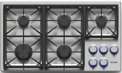 Dacor Dyct365gsng Discovery 36 Inch Gas Cooktop 5 Sealed Dual Stacked Burners