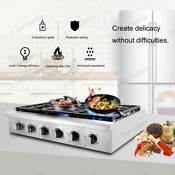 36 Thor Kitchen Stainless Steel Gas Stove Range Top Counter Glass Portable