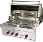 Nib Wolf 36 25 000 Btu Burners Led Knobs Built In Stainless Gas Grill Og36