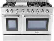 Nib Thor Kitchen 48 Commercial Convection Ss Professional Gas Range Hrg4808u
