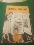 1950 S Vintage Ge General Electric Refrigerator Owners Manualwith Recipes Nice