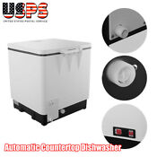 110v Automatic Countertop Dishwasher Stainless Steel Mini Dish Washerportable Us