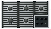 Wolf Cg365t S 36 Inch Transitional Gas Cooktop In Stainless Steel