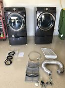 Samsung Electric Washer 6300 And Dryer Gas With Pedistals