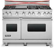 Viking Professional Series 48 6 Sealed Burners Pro Style Gas Range Vgcc5486gss