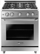 Dacor Hger30sng Heritage 30 Epicure Gas Range W 4 Sealed Burners In Stainless