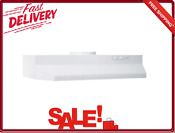 Range Hood Under Cabinet With White Incandescent Light 30 Single Speed Fan