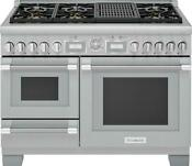Thermador Pro Grand 48 Integrated Grill Pro Style Dual Fuel Range Prd48wlsgu