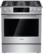 Bosch Hdi8054u 800 Series 30 True Convection Slide In Dual Fuel Range Stainless