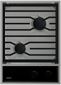 Wolf Cg152tf S 15 Gas Cooktop With 2 Sealed Burners In Stainless Steel