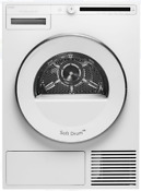 Asko T208hw Classic 24 Inch Front Load Electric Heat Pump Dryer In White