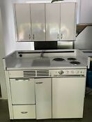 Dwyer Vintage Kitchenette With Stove Refrigerator Cabinets