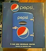 Pepsi 6 Can Cooler Mini Fridge Car Wall Plug In Option New In Box