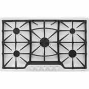 New Kenmore Model 32692 36 Inch Gas Cooktop White Stainless Steel