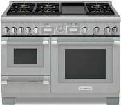 Thermador 48 Pro Grand Stainless Steel Home Connect Dual Fuel Range Prd48wdsgu