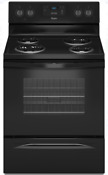 Whirlpool Wfc150m0eb 30 Inch Freestanding Electric Range In Black
