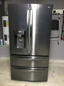 Lg Black Stainless Steel Fridge 27 8 W Smart Wifi Enabled Refrigerator