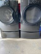 Kenmore Elite He Washer And Dryer With Pedestals And Dryer Shoe Drying Rack