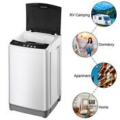 Full Automatic Laundry Washing Machine 10lbs Compact Washer W Drain Pump Spinner